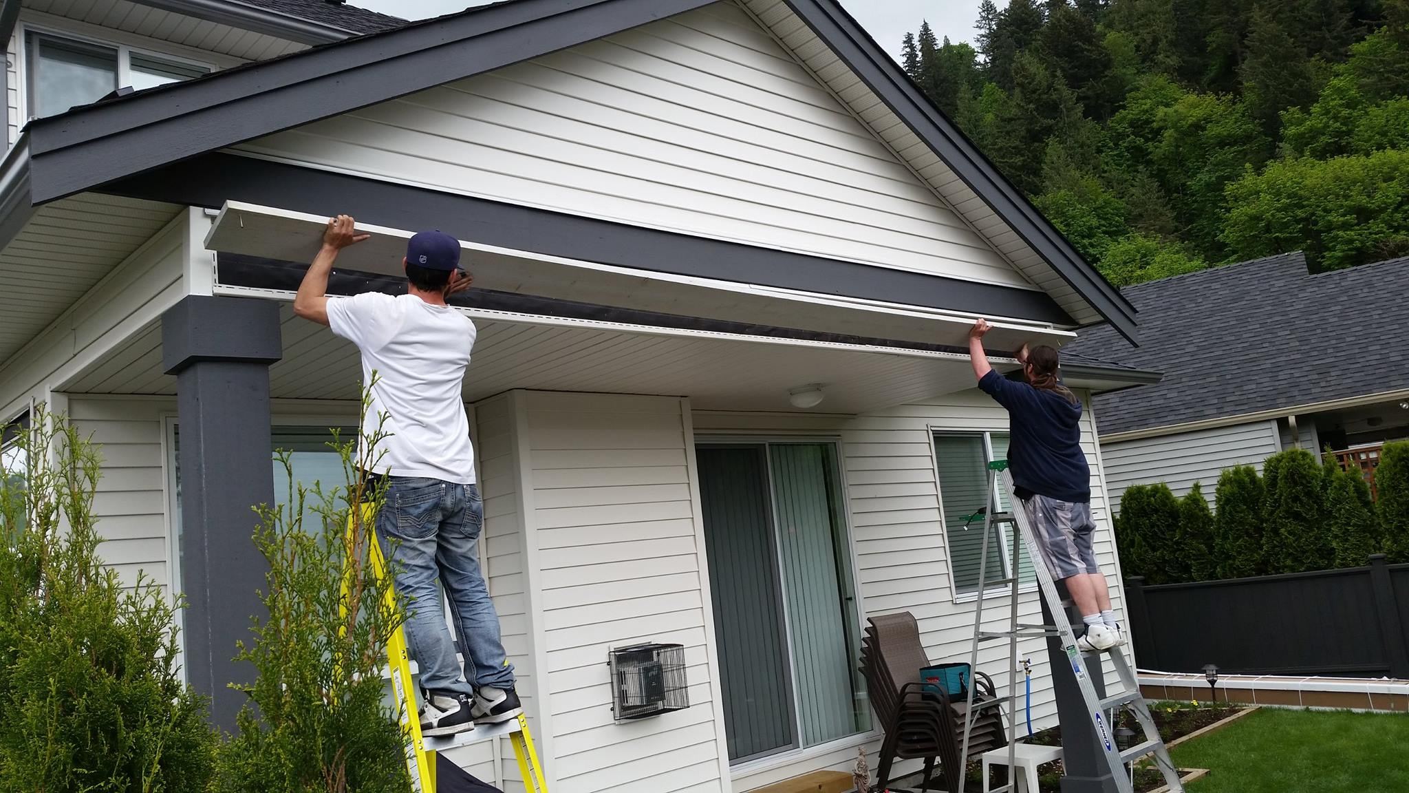 Two 20′ Power Awnings